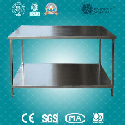 Double stainless steel table